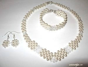 "Bijuterii set ""White Princess"", Swarovski Elements"