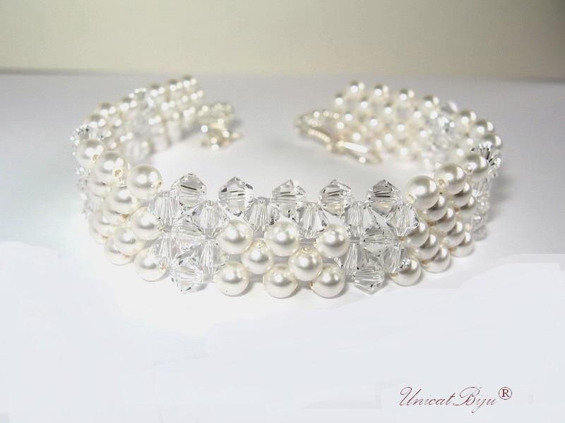 bratara mireasa, bijuterii cristale swarovski, unicatbiju