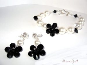 "Bijuterii set ""Little Audrey"", Swarovski Elements"