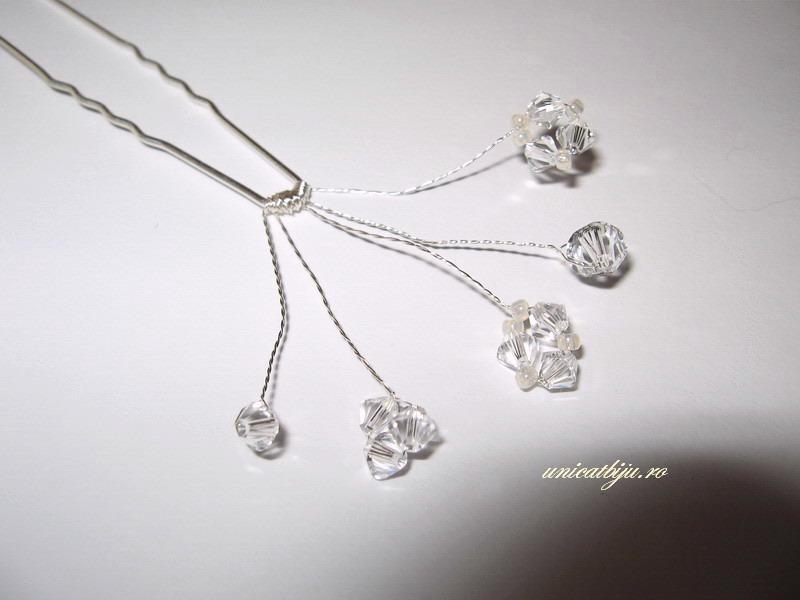 ac de par cristale swarovski, bijuterii mireasa, accesorii par mireasa, unicatbiju