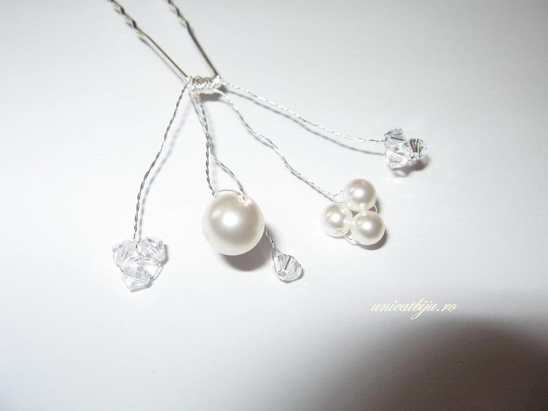 ac de par perle, bijuterii mireasa swarovski, unicatbiju