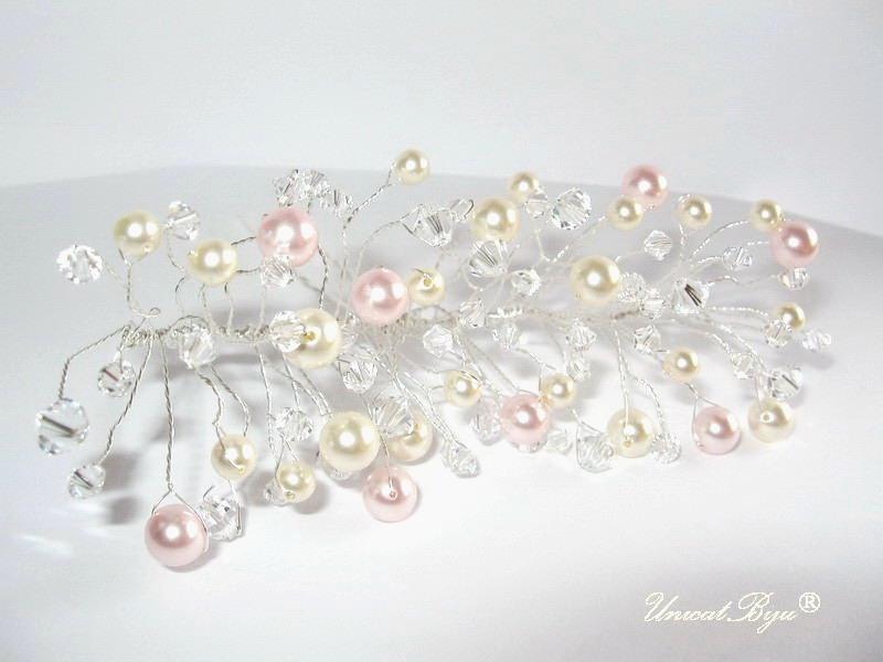ac par perle swarovski, accesorii mireasa, bijuterii perle, unicatbiju