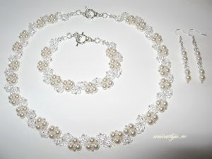 "Bijuterii set ""Bright White"", Swarovski® Elements"