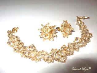 """Bijuterii set """"Sun Bride"""", Swarovski Elements"""