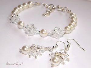 "Bijuterii set ""Crystal Glow"", Swarovski Elements"
