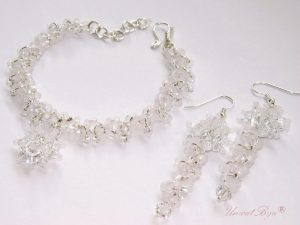 "Bijuterii set ""Frosted Glamour""; Swarovski Elements"