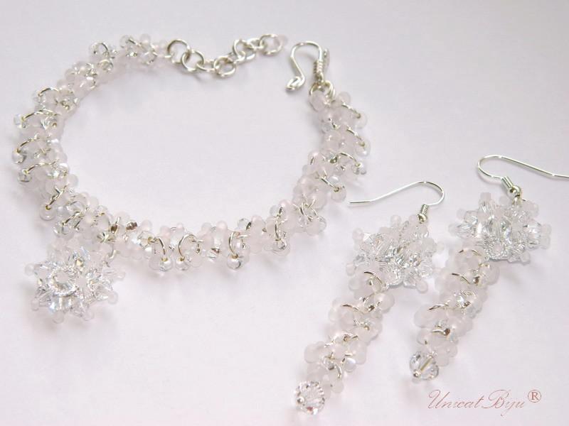 bijuterii mireasa, bratara cristale swarovski, unicatbiju
