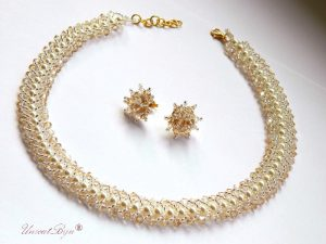 "Bijtuterii set ""Tiffany Glamour"", Swarovski Elements"