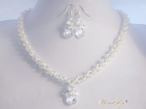 "Bijuterii set ""New Crystal Frosted"", Swarovski Elements"