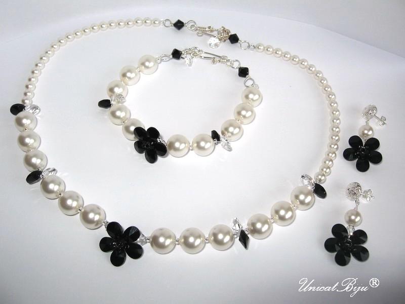 bijuterii mireasa perle swarovski, unicatbiju