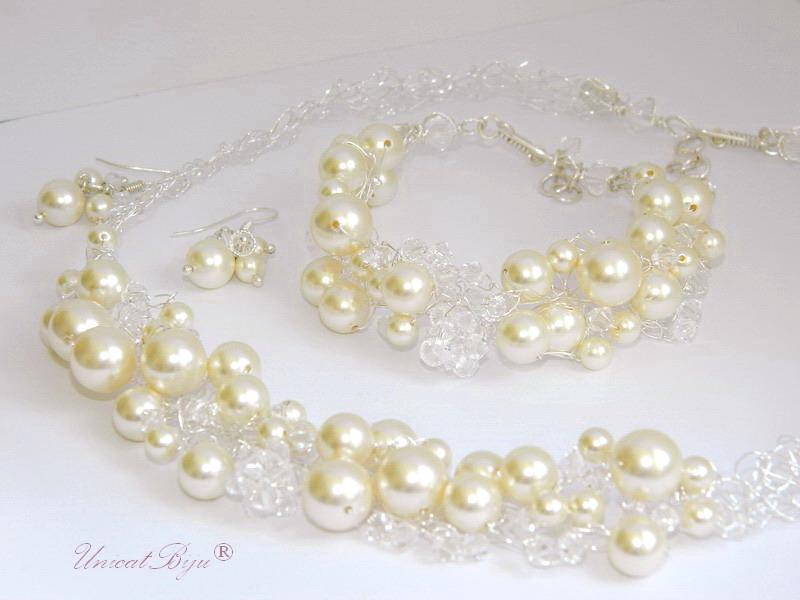 bijuterii mireasa perle, unicatbiju, statement
