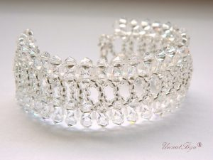 "Bratara ""White Glamour"", Swarovski Elements"