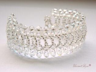 "Bratara ""White Glamour"", Swarovski Elements"