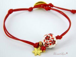 "Bratara ""Red Blossom"""