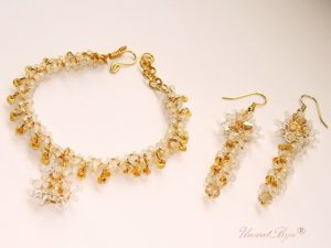 "Bijuterii set ""Sun Glamour"", Swarovski Elements"