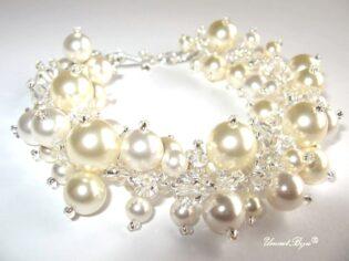 "Bratara ""Pearl Joy"", Swarovski Elements"