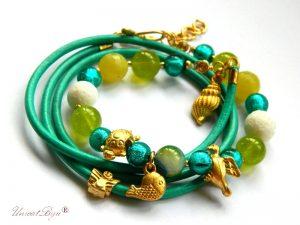"Bratara ""Gold Turquoise"""