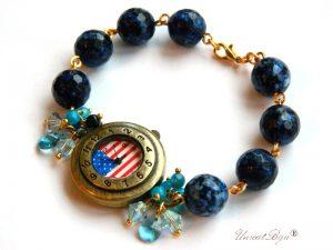"""Ceas """"Navy Blue"""", Swarovski Elements"""