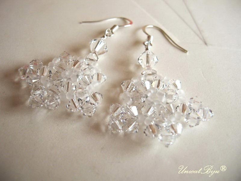 cercei mireasa, bijuterii cristale swarovski, unicatbiju