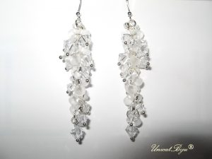 "Cercei ""Frosted Silver"", Swarovski Elements"