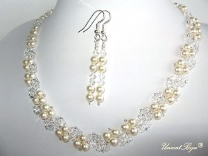"Bijuterii set ""Ivory Royal"", Swarovski® Elements"