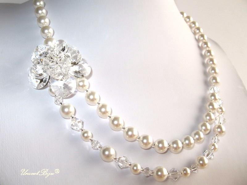colier perle, bijuterii mireasa, unicatbiju