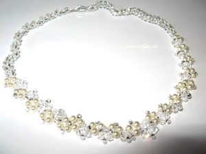 "Colier ""Cream Lace"", Swarovski Elements"