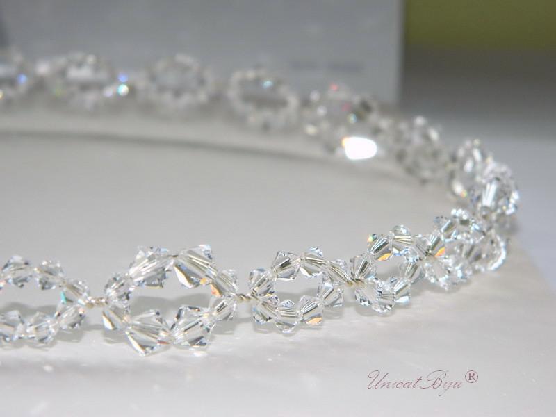 diadema cristale swarovski, accesorii mireasa, bentita mireasa, unicatbiju