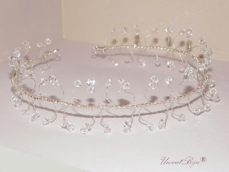 diadema cristale swarovski, accesorii par, bijuterii mireasa, unicatbiju