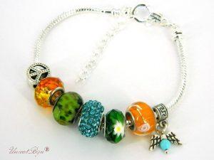 bratara-stil-pandora-murano-cristale-orange-verde-unicatbiju