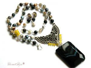 colier-cercei-agat-negru-botswana-jad-galben-bijuterii-semipretioase-unicat-pandantiv-agat-negru-colier-statement-unicatbiju