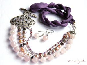 colier-cuart-roz-bijuterii-matase-naturala-perle-ametist-pandantiv-dervish-argintat-bijuterii-statement-unicat-unicatbiju