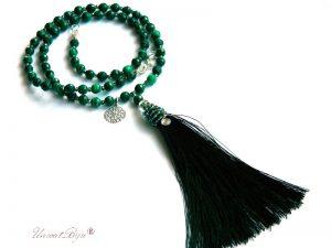 colier-ciucure-matase-verde-bijuterii-semipretioase-unicat-malachit-cristale-craciun-fulg-argintat-unicatbiju