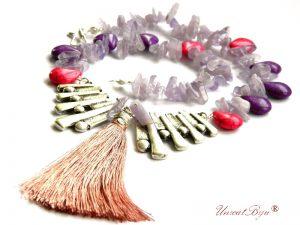 bijuterii-semipretioase-unicat-ametist-bolivia-howlite-mov-fuchsia-bijuterii-statement-colier-ciucure-matase-unicatbiju