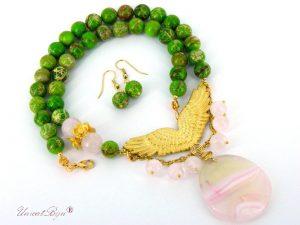 bijuterii-semipretioase-unicat-colier-regalit-verde-cuart-roz-agat-aurit-statement-unicatbiju