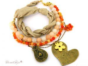 bijuterii-semipretioase-unicat-pandantiv-inima-bronz-carneol-calcit-galben-matase-naturala-aurit-martisor-unicatbiju