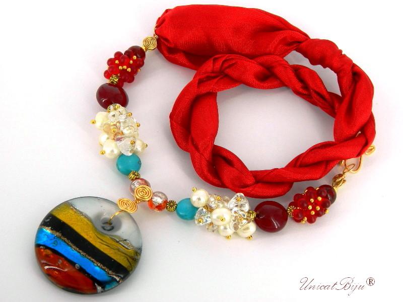 colier-matase-naturala-perle-murano-foita-aur-pandantiv-murano-turcoaz-multicolor-perle-cultura-unicatbiju