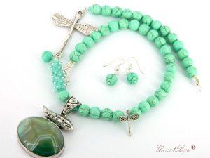 bijuterii-semipretioase-unicat-magnezit-verde-pandantiv-agat-verde-masiv-colier-libelula-argintata-unicatbiju-acvamarin