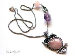 colier-lant-argintat-pandantiv-bufnita-argintat-cuart-roz-ametist-masiv-semipretioase-unicat-unicatbiju