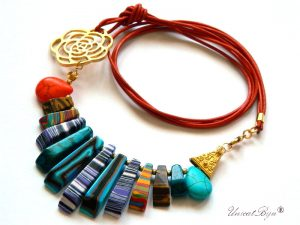 colier-piele-naturala-turcoaz-bijuterii-semipretioase-unicat-magnezit-multicolor-unicatbiju-aurit