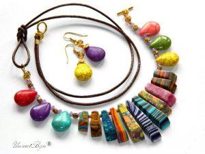 bijuterii-semipretioase-unicat-statement-magnezit-multicolor-piele-naturala-turcoaz-ametist-unicatbiju