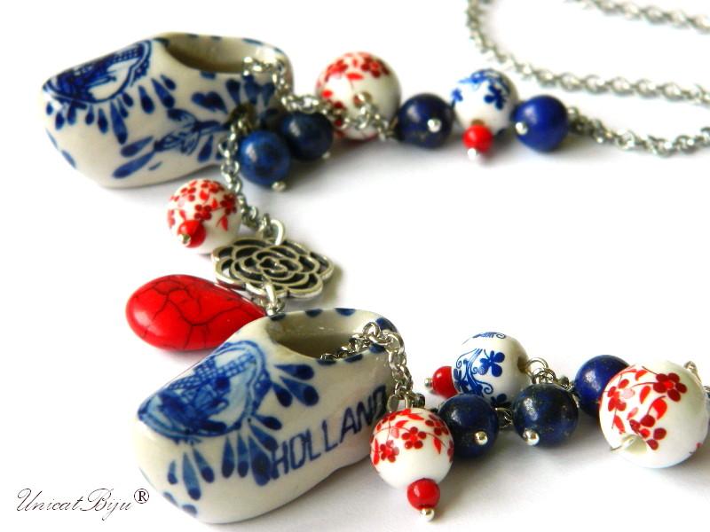 colier-lant-argintat-saboti-olandezi-portelan-ceramica-pictata-rosu-lapis-lazuli-unicatbiju
