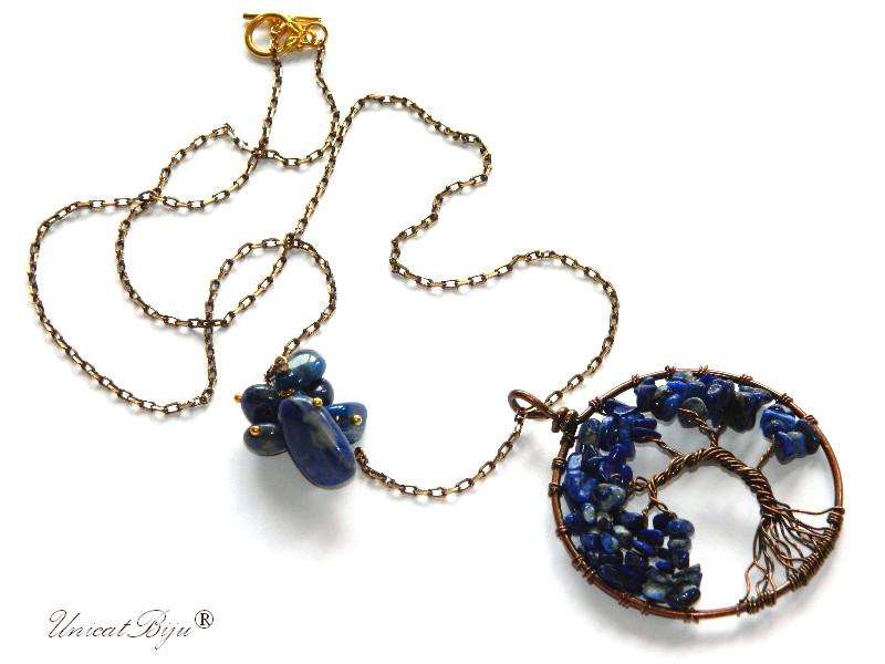 colier-lant-bronz-pandantiv-copacul-vietii-lapis-lazuli-semipretioase-unicatbiju