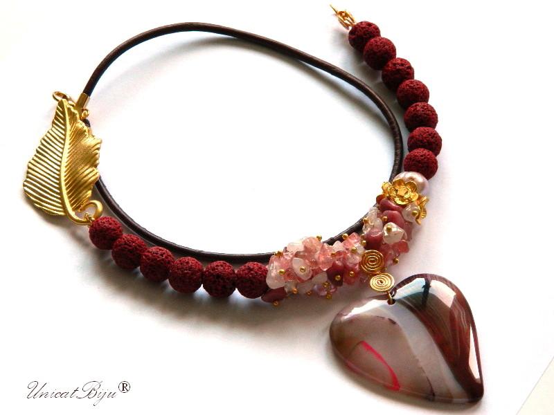 colier-lava-coral-cuart-cherry-bijuterii-semipretioase-unicat-snur-piele-naturala-aurit-statement-unicatbiju