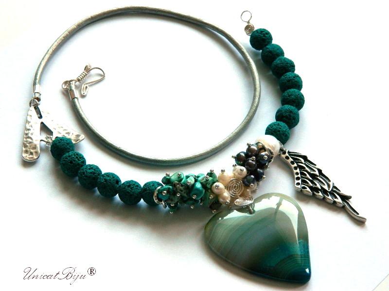 colier-lava-turcoaz-perle-sidef-natural-bijuterii-semipretioase-unicat-snur-piele-naturala-argintat-statement-unicatbiju