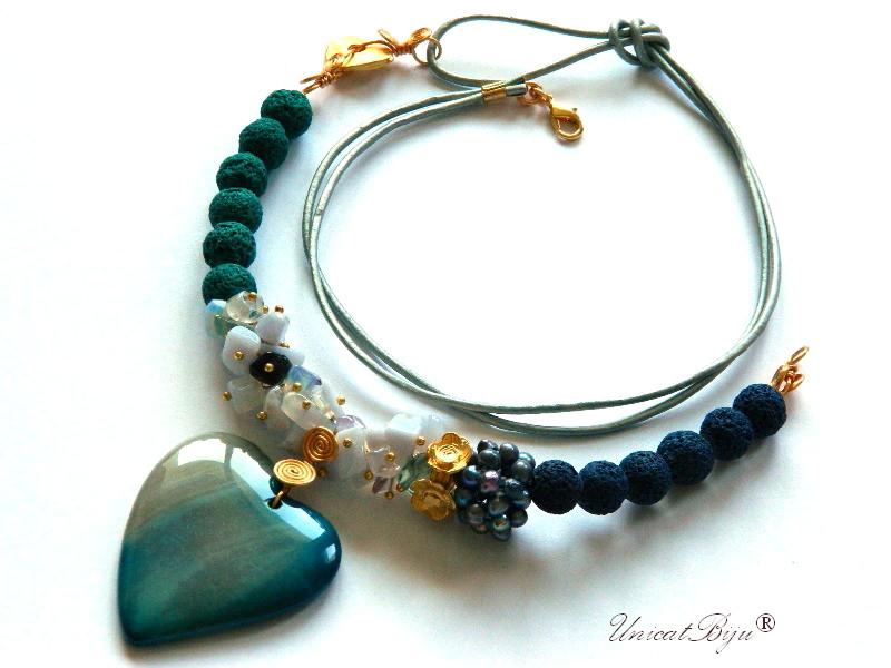 colier-semipretioase-unicat-angelit-opal-perle-negre-curcubeu-snur-piele-turcoaz-unicatbiju-pandantiv-agat-inima