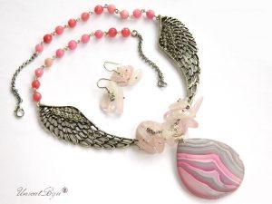 bijuterii-semipretioase-unicat-colier-statement-aripi-cercei-cuart-roz-agat-pandantiv-agat-mat-unicatbiju