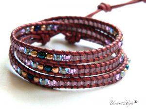 bratara-wrap-piele-naturala-burgundy-toho-metalizat-perle-mov-ametist-bijuterii-vara-unicatbiju