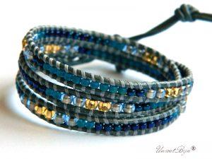 bratara-wrap-piele-naturala-gri-perlat-toho-metalizat-perle-albastru-azur-bijuterii-vara-unicatbiju