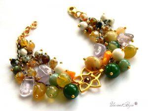 bratara-semipretioase-coral-orange-agat-jad-galben-ametist-aurit-unicatbiju